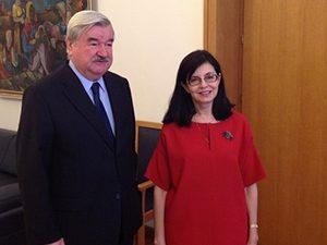 Меглена Кунева се срещна с посланика на Русия