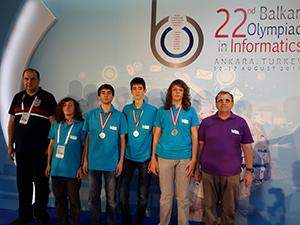 Първо място за българите на Балканската олимпиада по информатика
