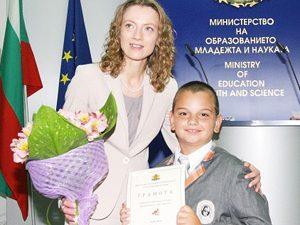"""Милена Дамянова награди призьорите на """"Европейско кенгуру"""" 2012"""