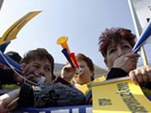 Учителите в Румъния протестират