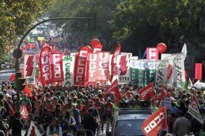 Ученици и учители протестираха в Испания