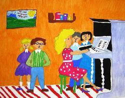 """Ученици подреждат изложба """"Учителите правят света по-добро място"""""""