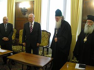 Министърът се срещна с патриарх Неофит